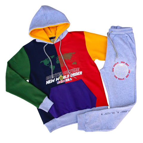 New World Order Color Block Sweat Suit