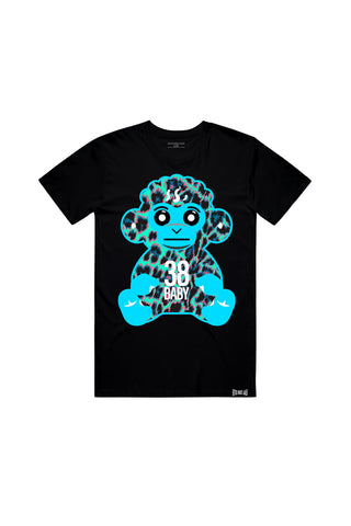 38 Baby Blue Leopard - Black