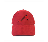 APOLI Red Ultra Suede Hat W/ Red Camo Logo