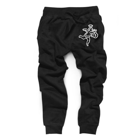 Angel Logo Joggers (Black)