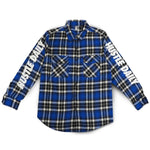 Hustle Daily Angel Flannel  - Blue & Black