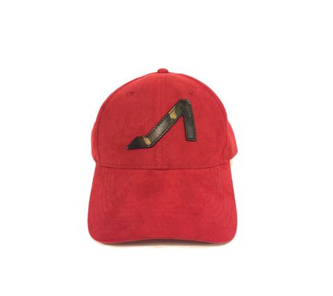 APOLI Red Ultra Suede Hat W/ Camo Logo