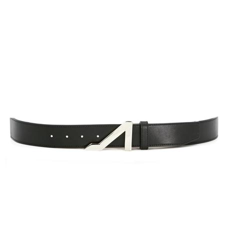 BLACK BELT WITH NICKEL BUCKLE MADE WITH NAPA LEATHER