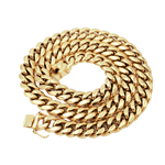 14mm Miami Cuban Link Yellow Gold GSG