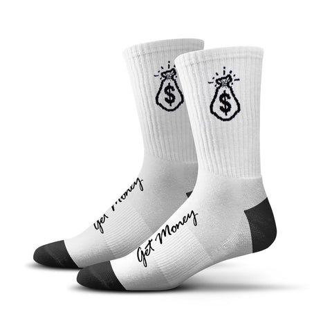 Money Bag Socks (white)