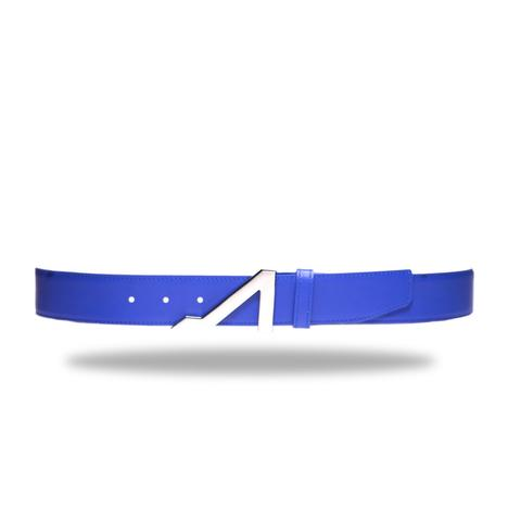 ROYAL BLUE BELT WITH NICKEL BUCKLE MADE WITH NAPA LEATHER