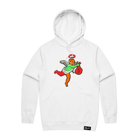 AJ6H Get Money Ski Mask Angel Chenille Patch HOODIE