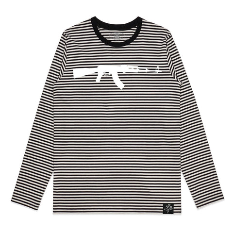 AK Black/Natural STRIPE Tee