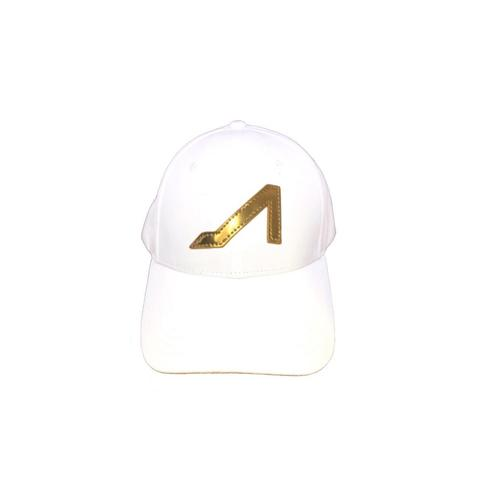 APOLI White Ultra Suede Hat W/ Gold Logo