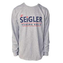 Load image into Gallery viewer, SEiGLER Long Sleeve Cotton T-Shirt  Our take on a traditional long sleeve T-shirt!  100% Ultra Cotton Seamless Collar Ribbed Cuffs Size S, M, L, XL, XXL and XXL Color HEATHERED GREY