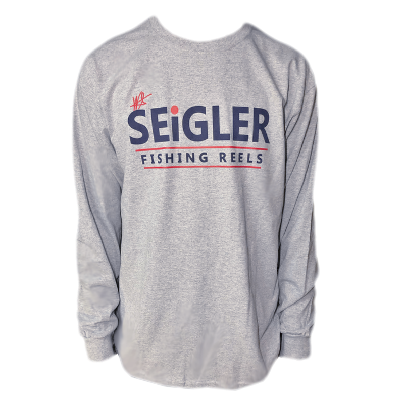SEiGLER Long Sleeve Cotton T-Shirt  Our take on a traditional long sleeve T-shirt!  100% Ultra Cotton Seamless Collar Ribbed Cuffs Size S, M, L, XL, XXL and XXL Color HEATHERED GREY