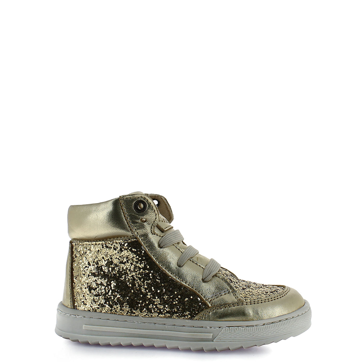 Kid's gold leather tennis shoes – True