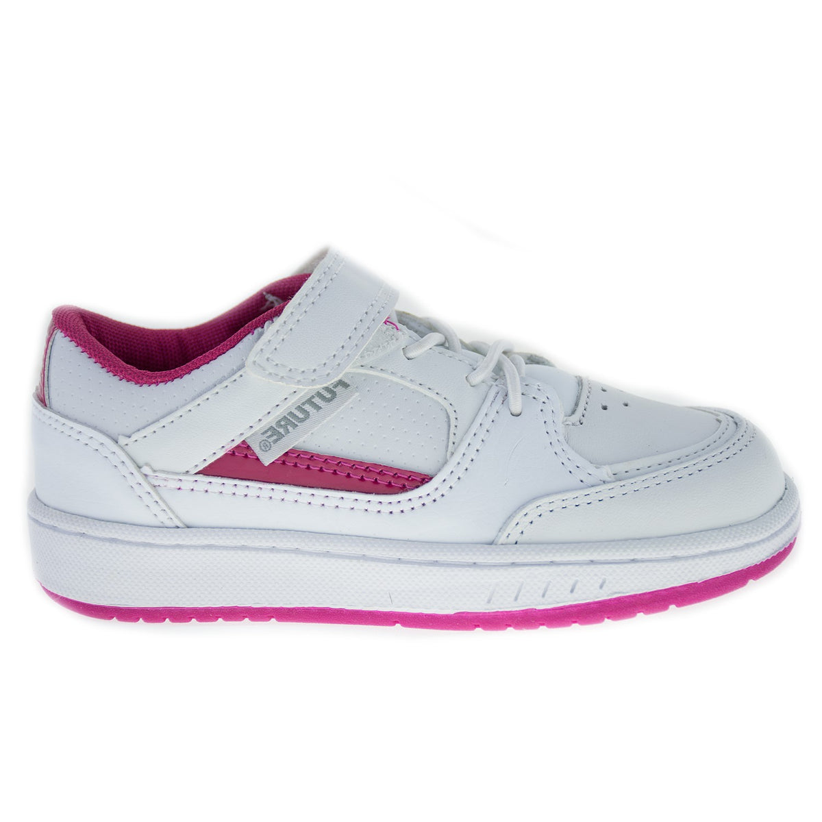 Kid's pink leather tennis shoes – True