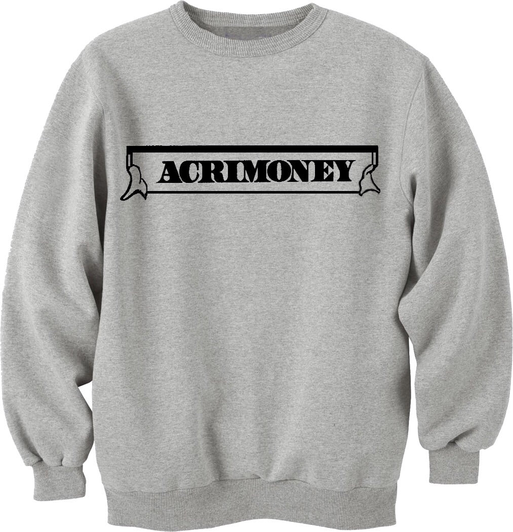 Acrimoney logo grey sweatshirt - Litpapi