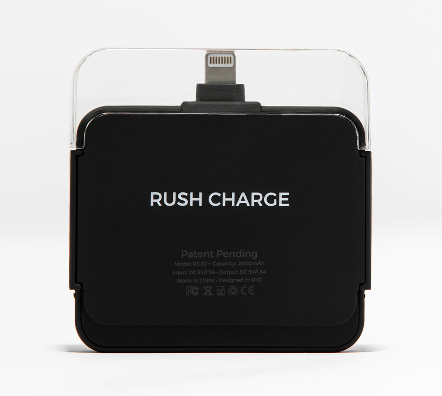 Rush Charge Air (Apple Lightning) Battery Pack Black
