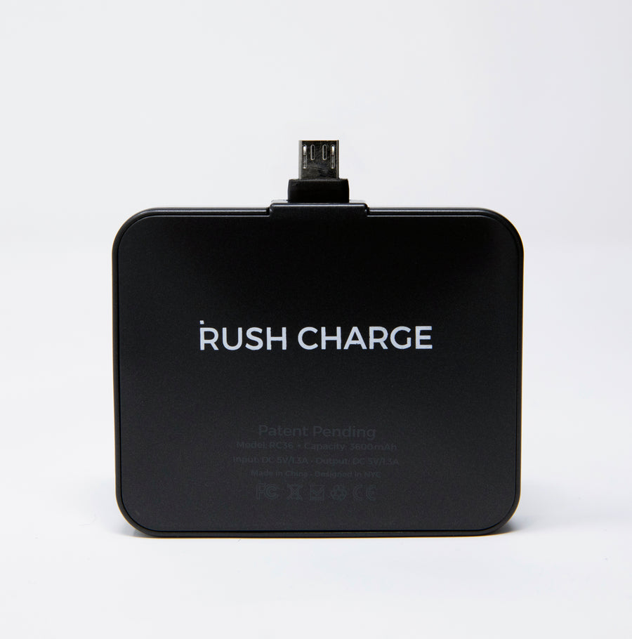 Rush Charge Max (Android Micro USB) Battery Pack Black