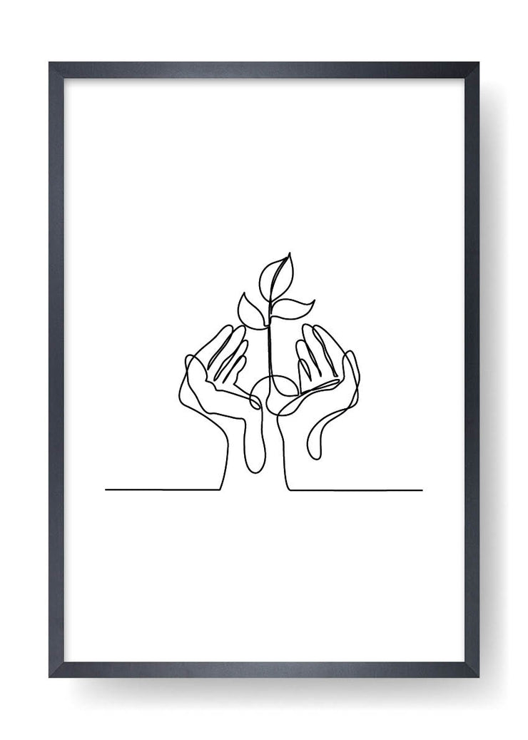 Nature Love Abstract Line Art