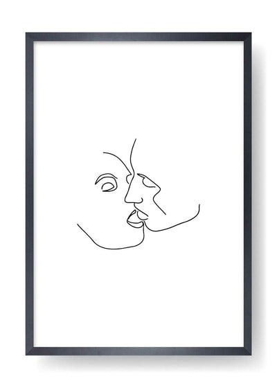 Couple Abstract Face Art