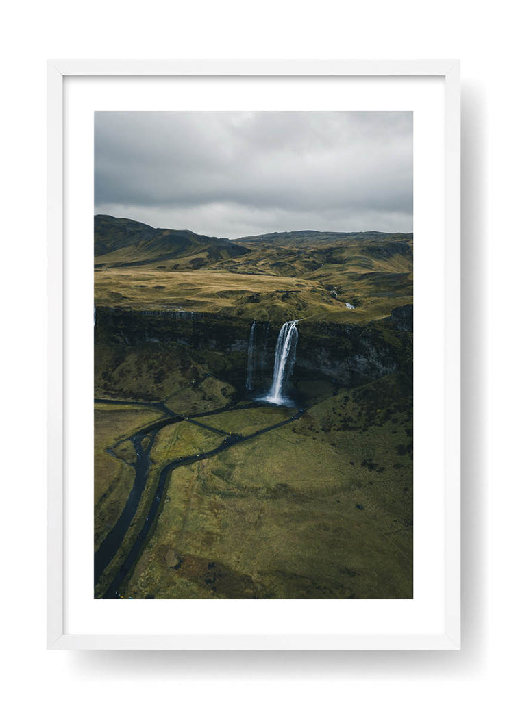 Iceland Natural Waterfall