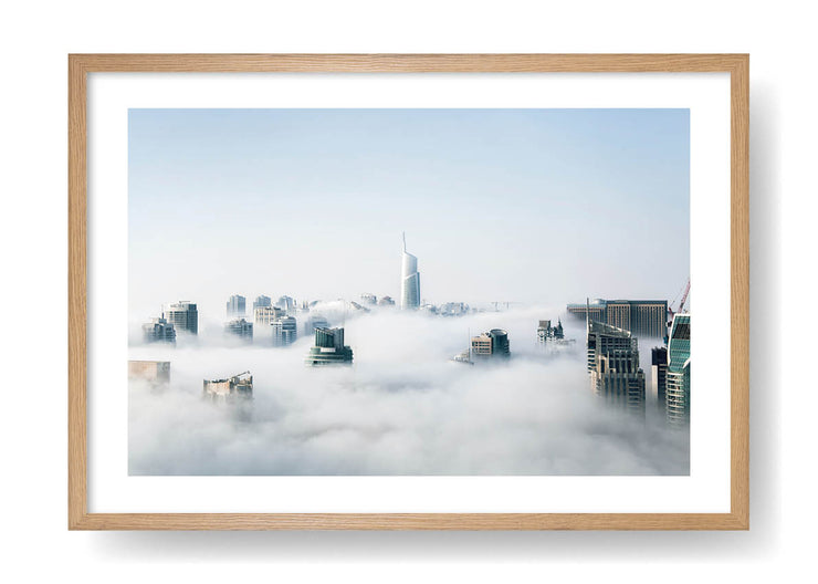 Skyscrapers Covered In Fog