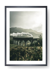 Steam Train In The Mountains