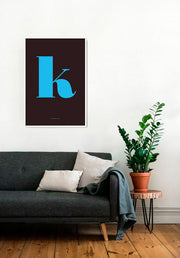 K. Colour Letter Design