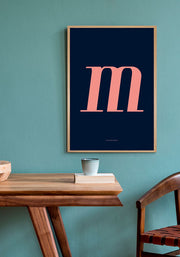 M. Colour Letter Design