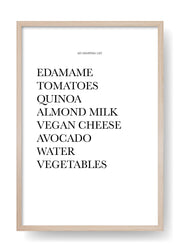 Veggie Shopping List