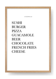 Weekend Shopping List