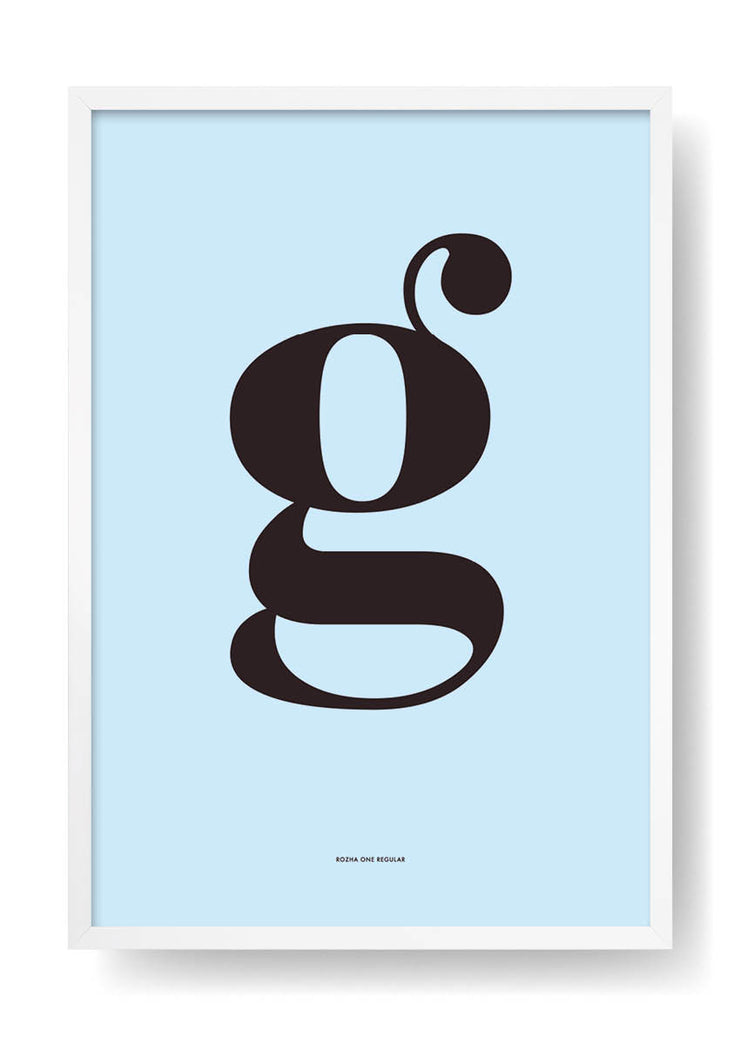 G. Colour Letter Design
