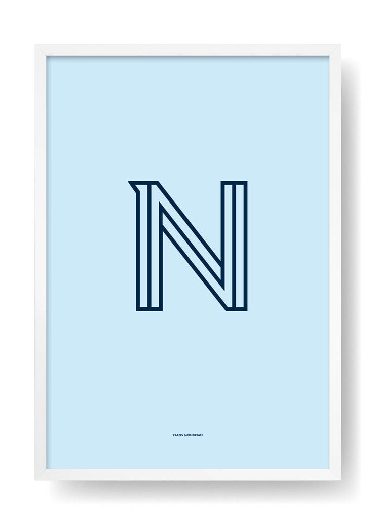 N. Colour Letter Design