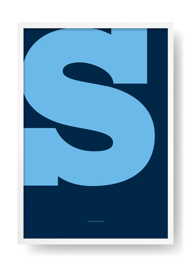 S. Colour Letter Design