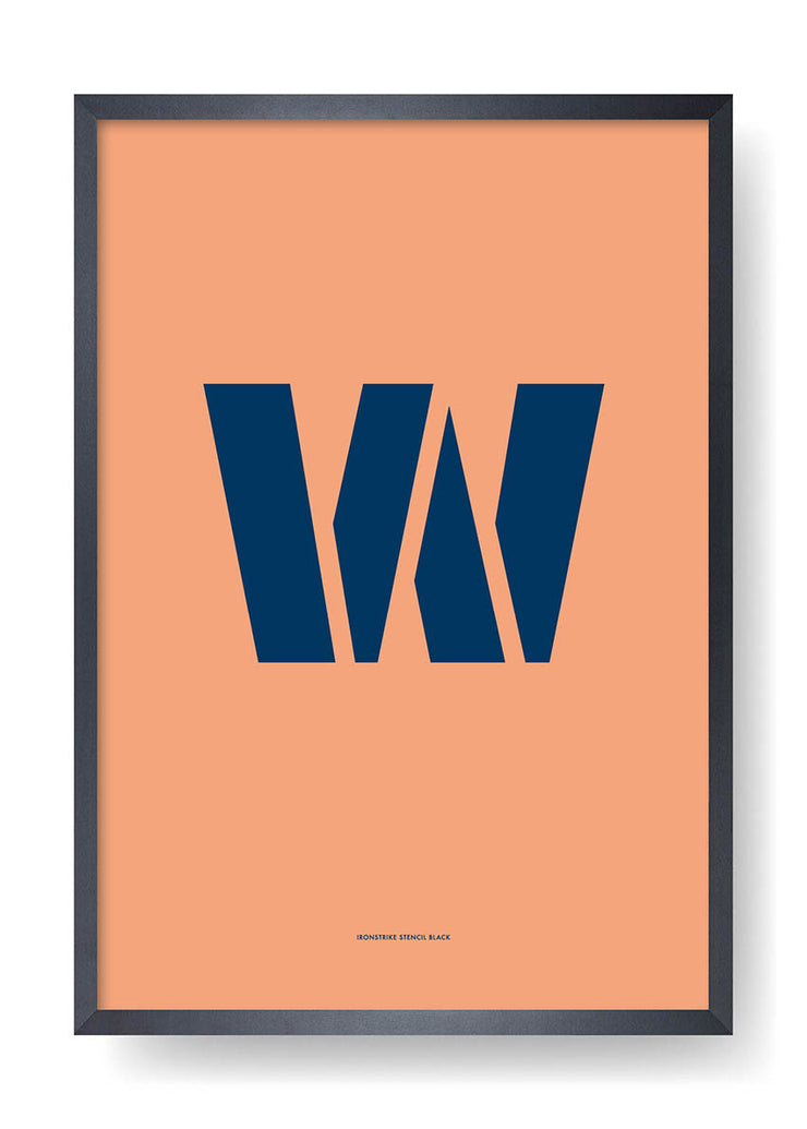 W. Colour Letter Design