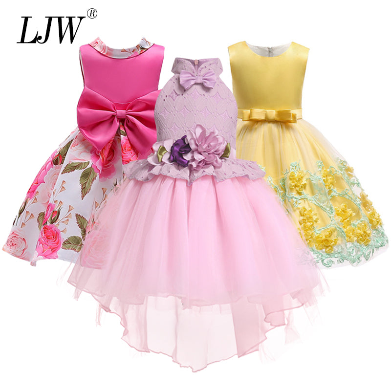 54cd1df5a10e02 Baby Girl embroidery Silk Princess Dress for Wedding party Kids Dresses for Toddler  Girl Children