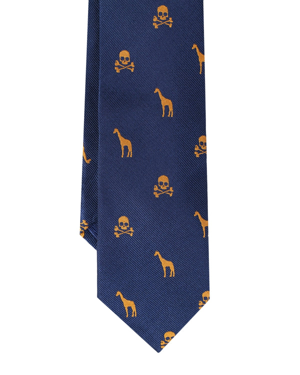 MOTIVI AND SKULL KIDS TIE NAVY