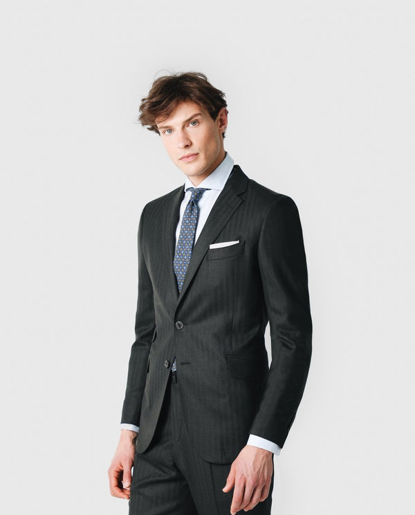 NEW DRESSY HERRINGBONE SUIT - Scalpers Company
