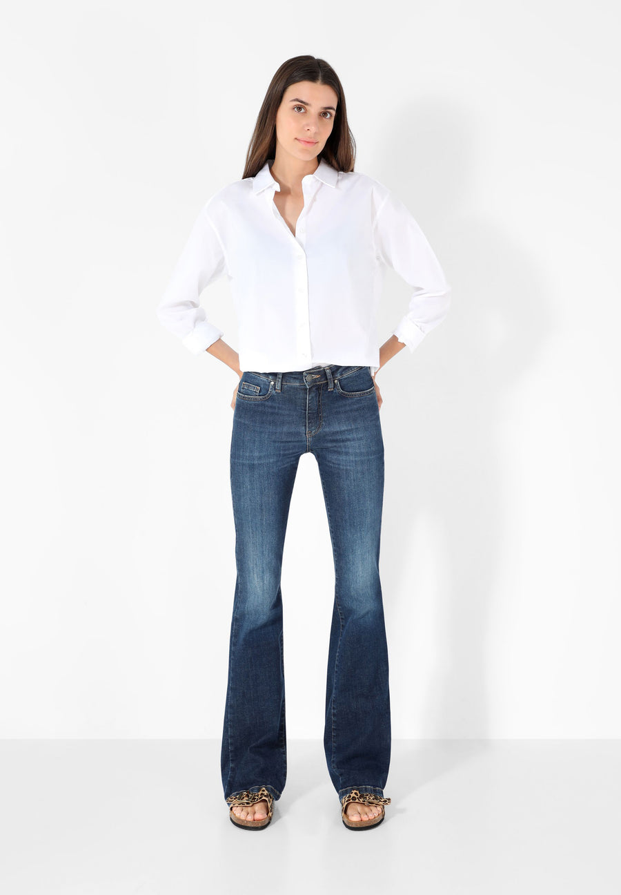 JEANS BOOTCUT MID RISE