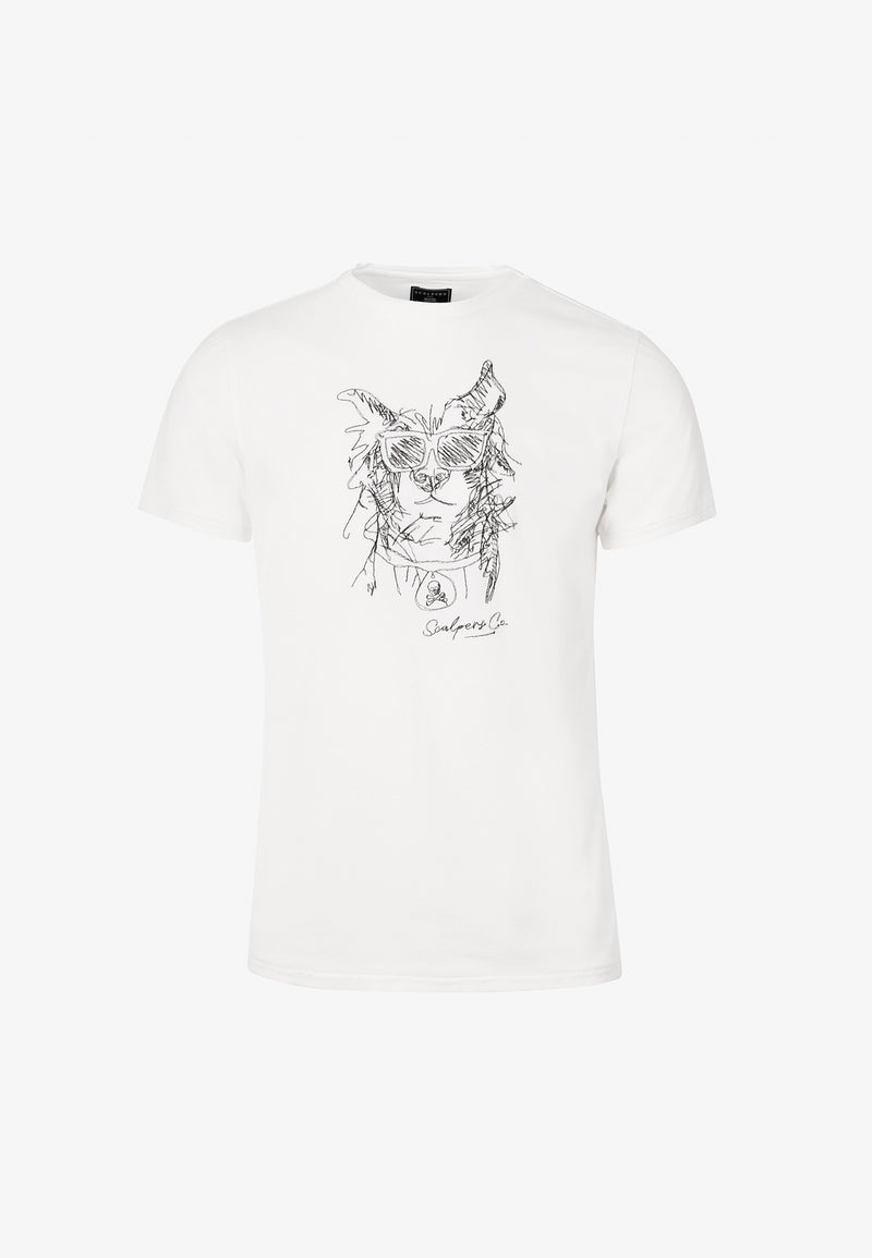 CAMISETA DIBUJO BORDADO