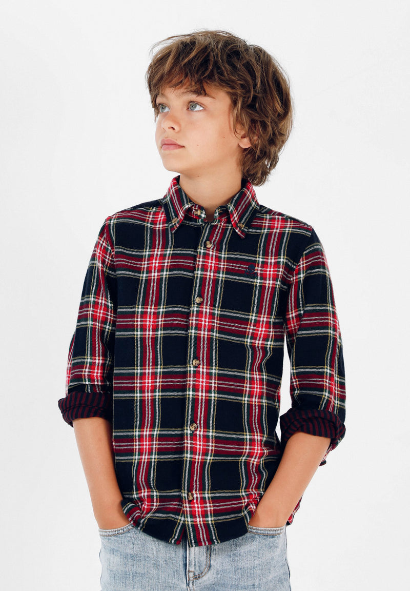 CAMISA TARTÁN DOBLE ESTAMPADO