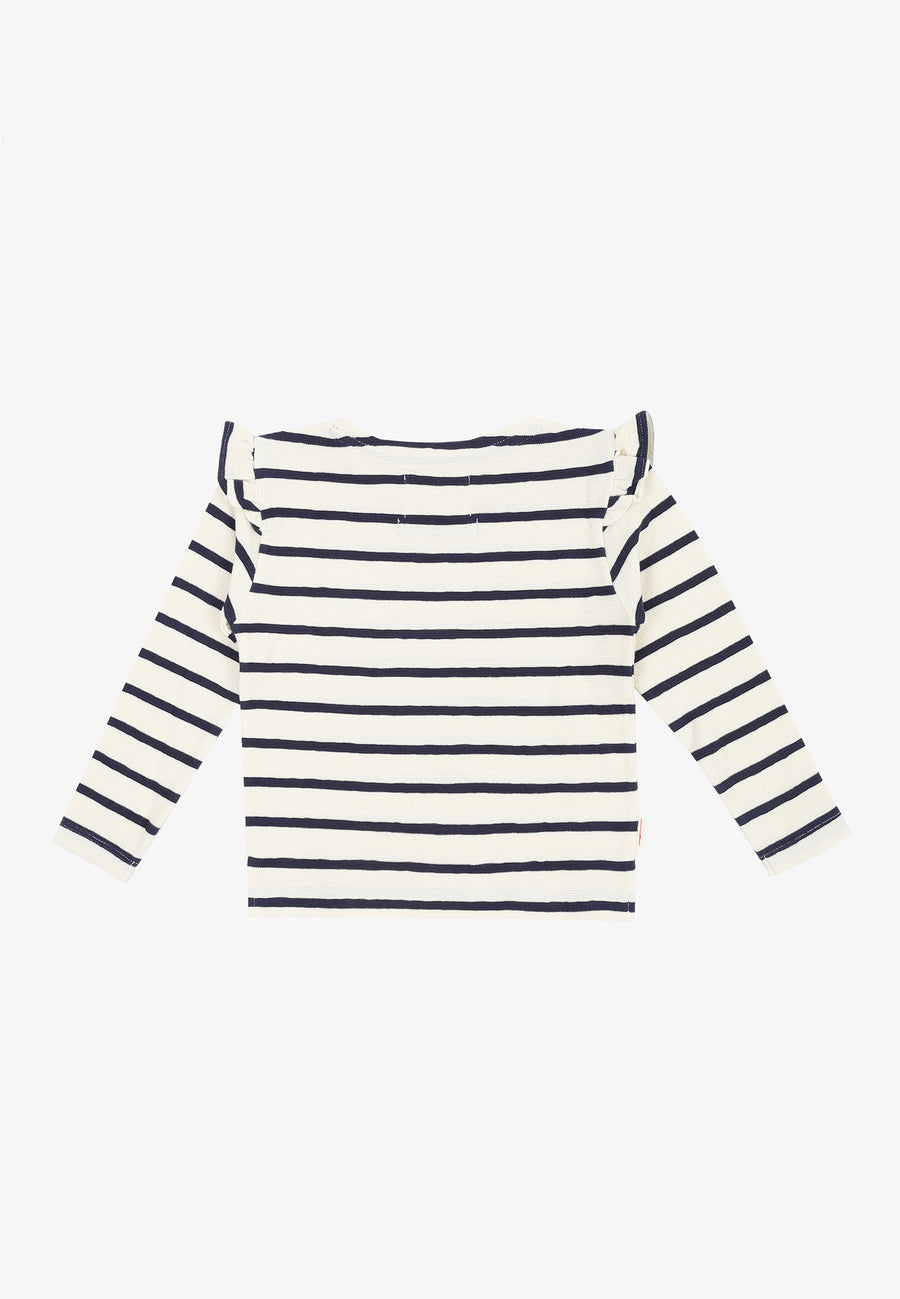 LS STRIPES TEE GIRLS