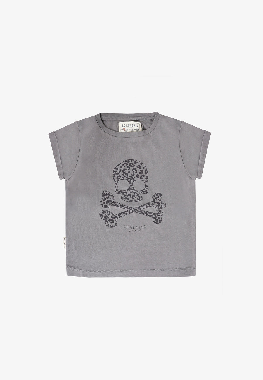 CAMISETA CALAVERA ANIMAL PRINT