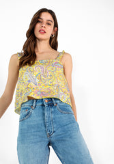 TOP LINO CROPPED
