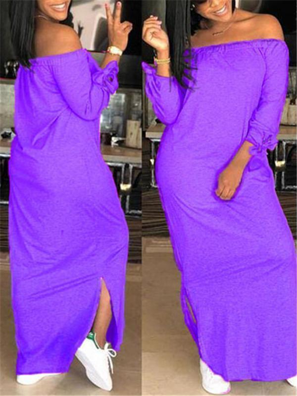 Off Shoulder Tie Cuff Dress---Only M Left