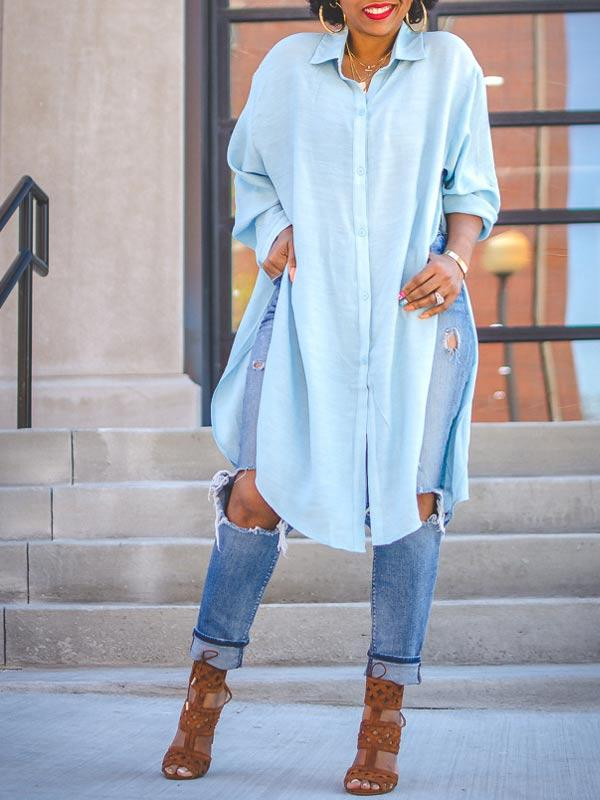 Side Slit Tunic Shirt