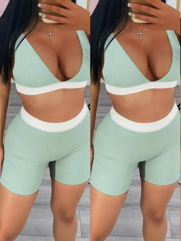 Sports Bra Top & Shorts Set