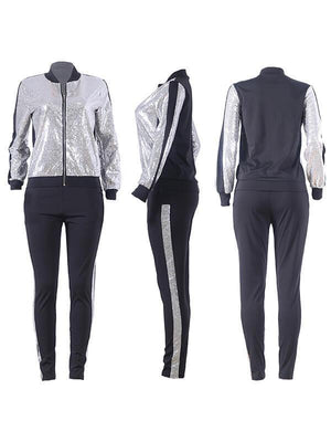 Sequin Jacket & Pants Set