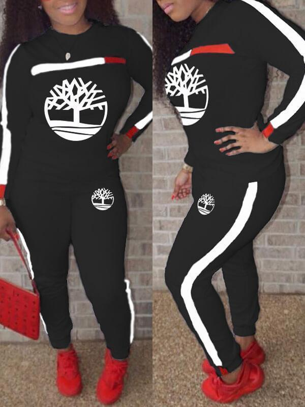 Logo Side-Stripe Sweatshirt & Pants Set
