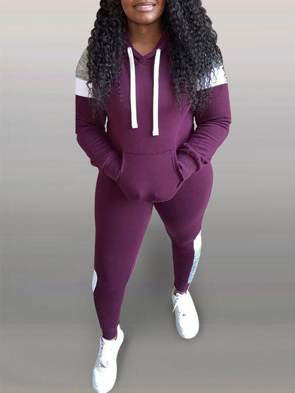 Colorblock Hoodie & Pants Set
