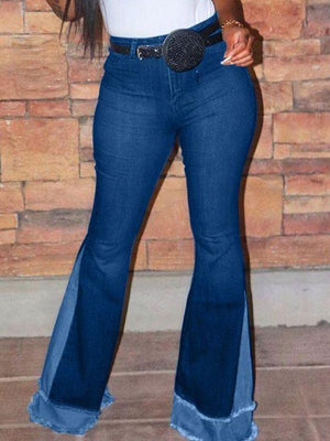 Flared Combo Jeans