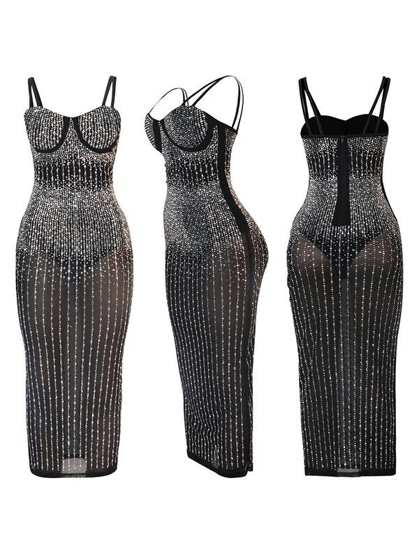 Studded Cami Sheer Dress